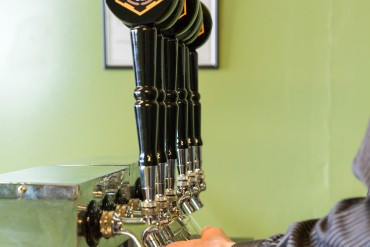 The taps at D9 Brewing