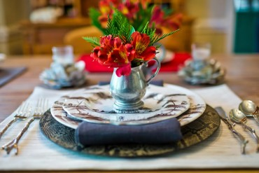 Nontraditional Holiday Table