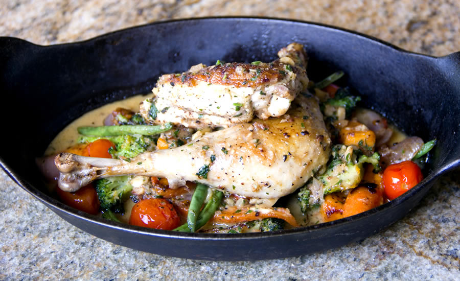 Napa on Providence's Seared Poulet Rouge Chicken