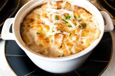 Claudia Teague's Asiago Parm Mac & Cheese
