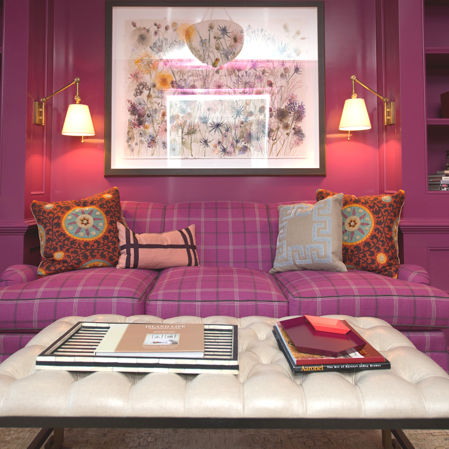 A Barrie Benson design featuring bold color and pattern