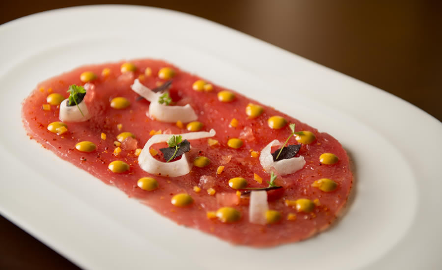 Chef Matt Carnevale's Yellowfin Tuna Carpaccio