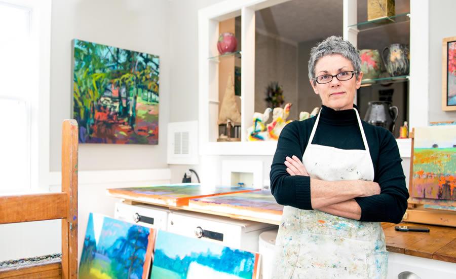 Jane Schmidt in her studio