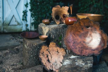 Wood-turned pieces by Ray Overman