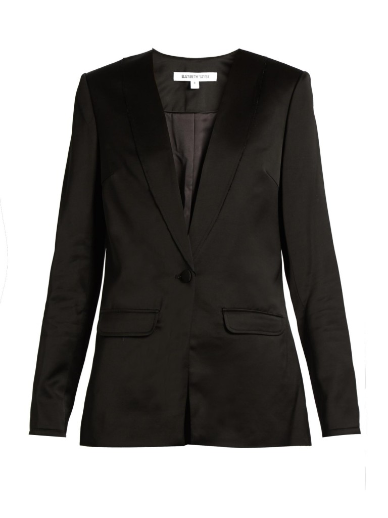 ELIZABETH AND JAMES EVIE SATIN BLAZER
