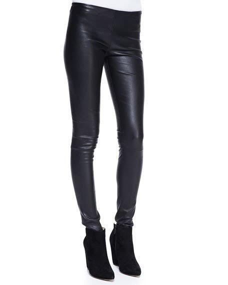 THE ROW STRETCH LEATHER MOTORCYCLE LEGGINGS