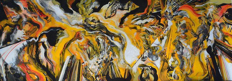 On Exhibit This Week In The QC: Artist Leandro Manzo's El Vestido Manchado