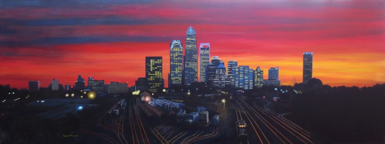 Switchyard Sunset by David French