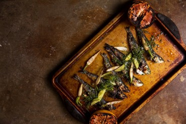 east of Seven Fishes - Grilled Sardines