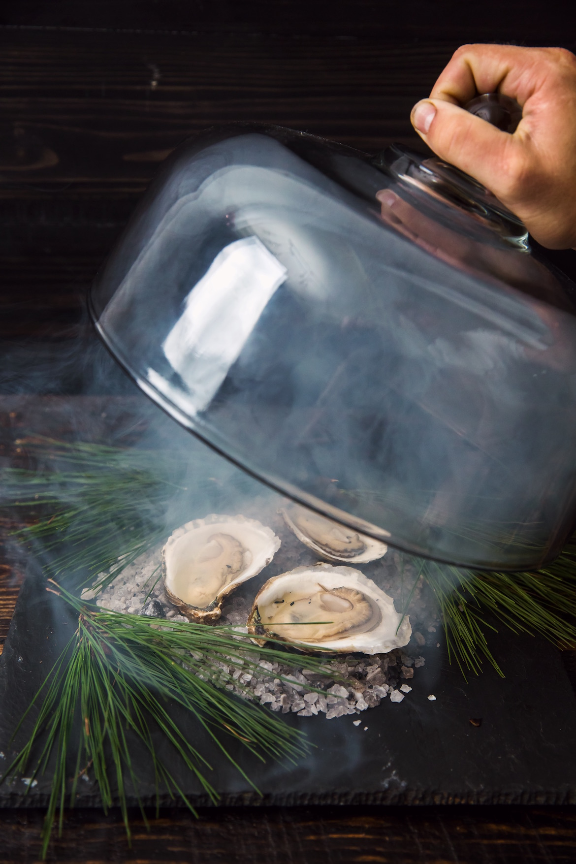 Feast of Seven Fishes - Smoked Oysters