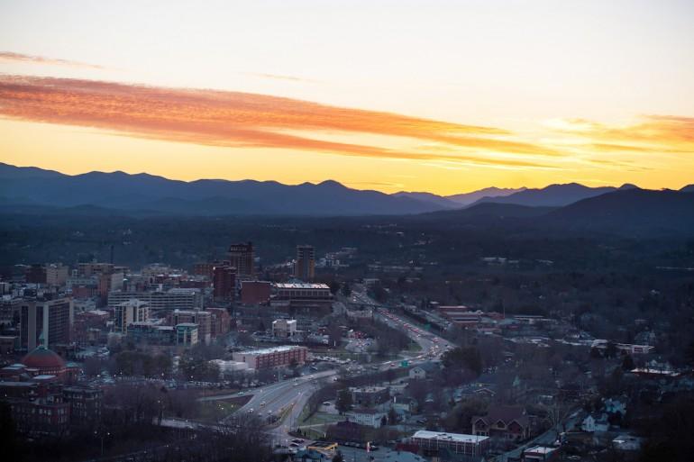 Sunset over Asheville