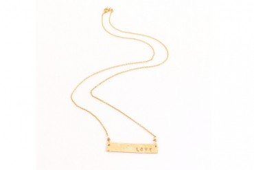 Hammered Gold Necklace Erin McDermott