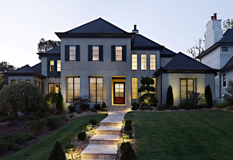 This elegant transitional home by jas am luxury home for Home builders com