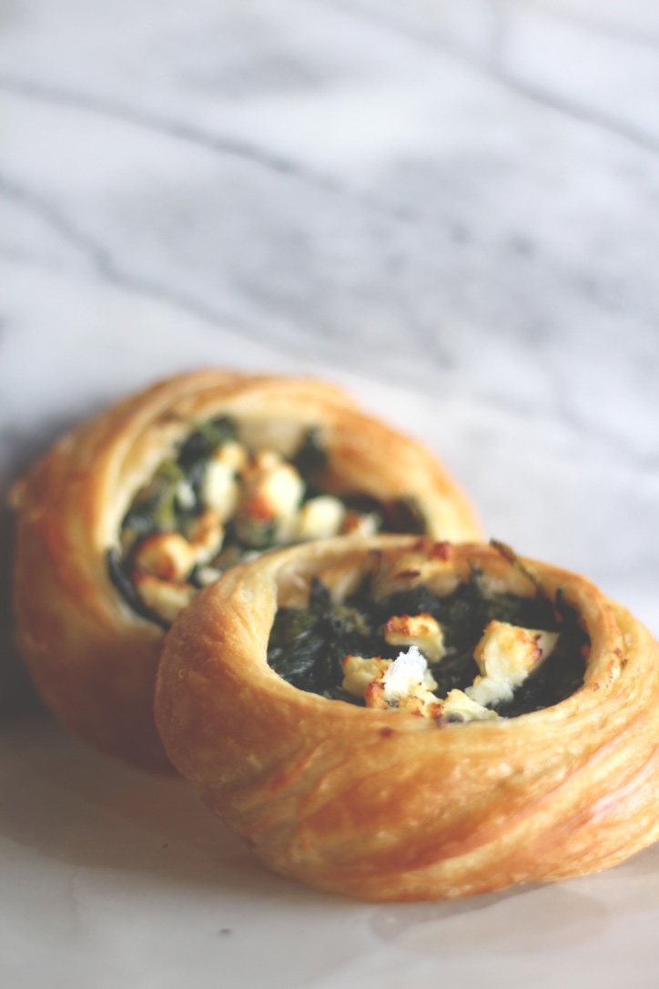 Amelie's Feta Spinach and Caramelized Onion Danish