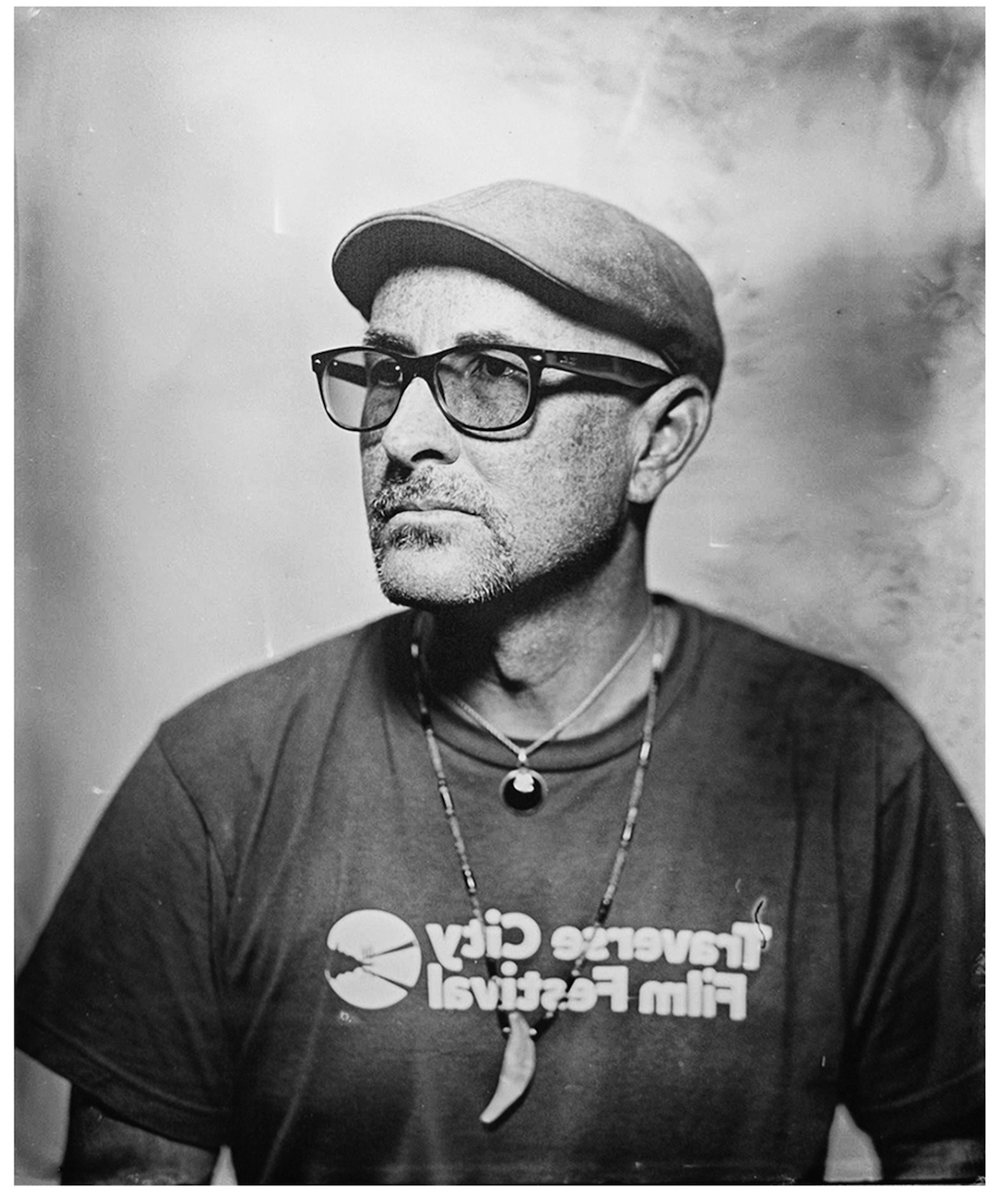 Tintype of Jeff Howlett, taken by Chris Morgan