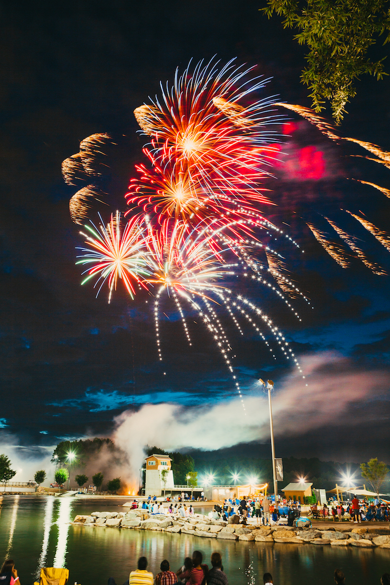 The USNWC's Fireworks Show. Photos by Kyo H. Nam