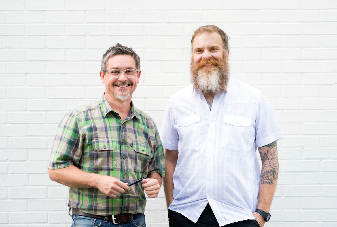 Chris Scorsone and Kevin Kennedy, founders of Cluck Design Collaborative