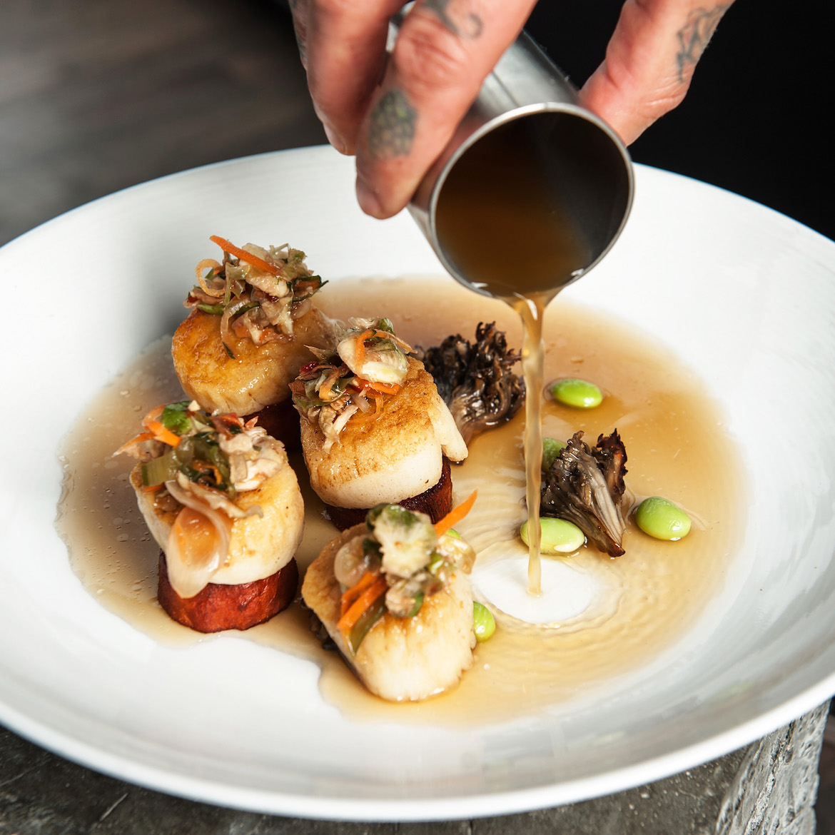 5Church's Seared Sea Scallops