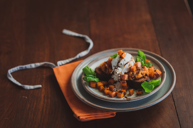 Caramelized Squash and Burrata