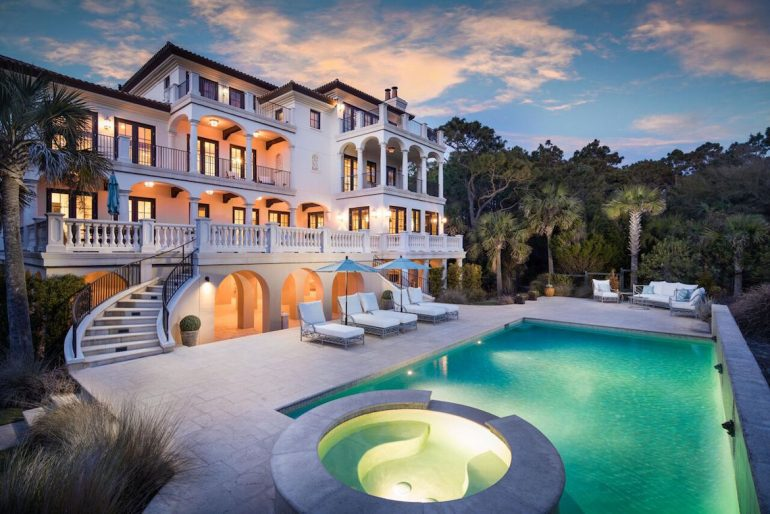 This Magnificent Ocean Front Kiawah Mansion By Pam