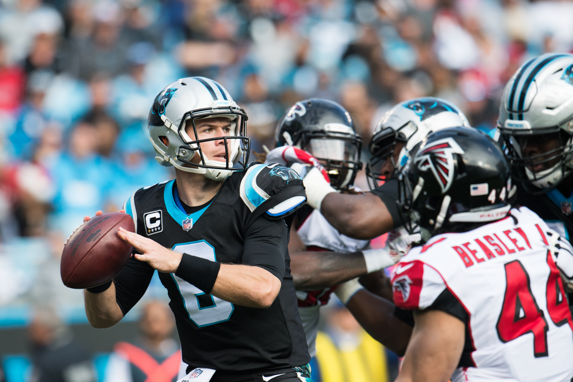 December 23, 2018. Panthers vs Falcons. Taylor Heinicke ...