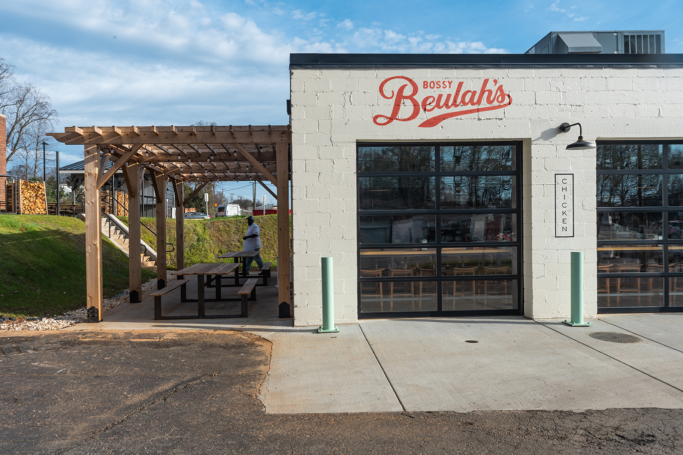 Exterior of Bossy Beulah's Chicken Shack Charlotte NC