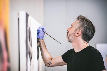 Artist Nathaniel Lancaster
