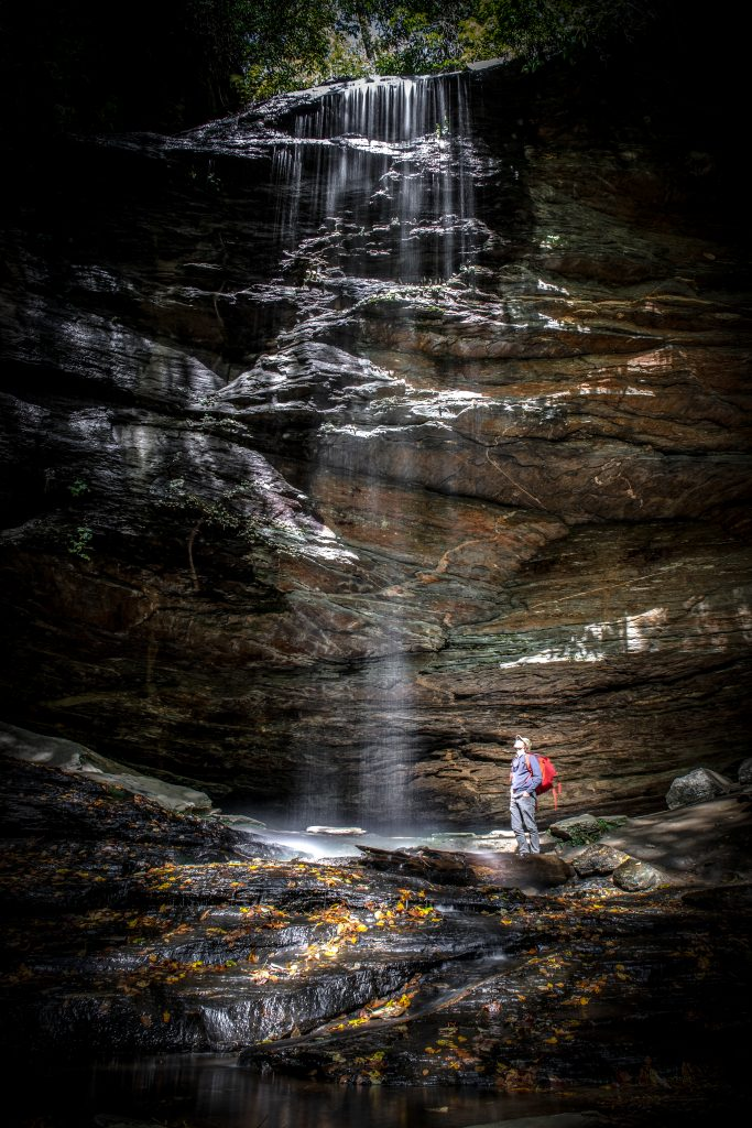 Moore Cove Falls in Pisgah National Forest