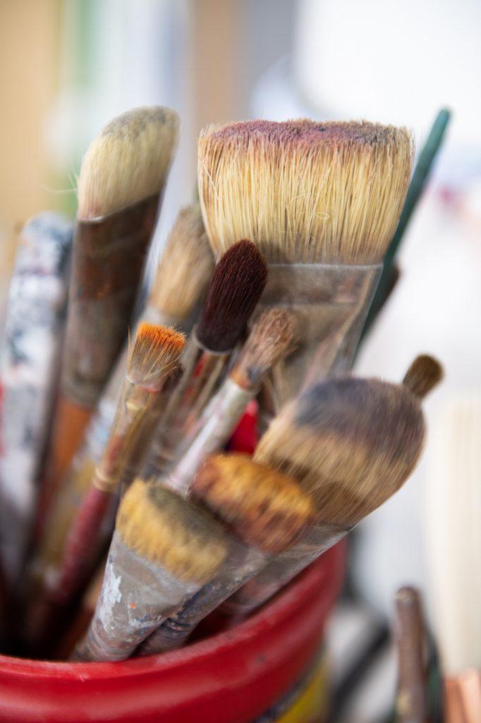 Katherine boxall's paintbrushes