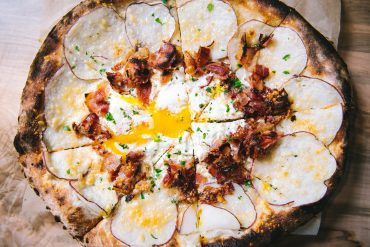 Egg pizza at Osteria Luca Charlotte NC
