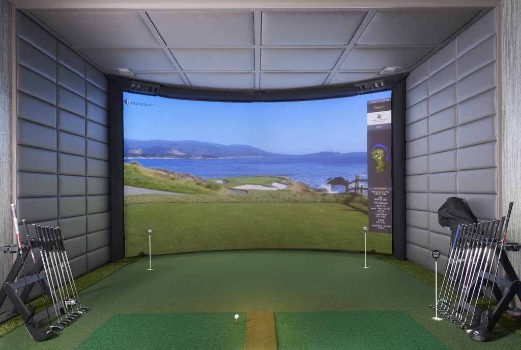 golf simulator Lake Norman home