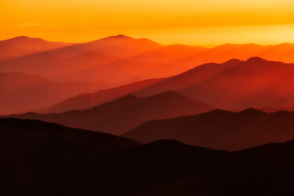 blue ridge sunset Carolina photography