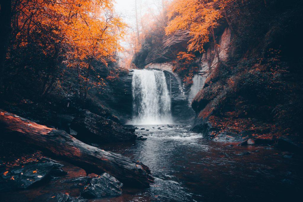 Carolina photography waterfall in the fall