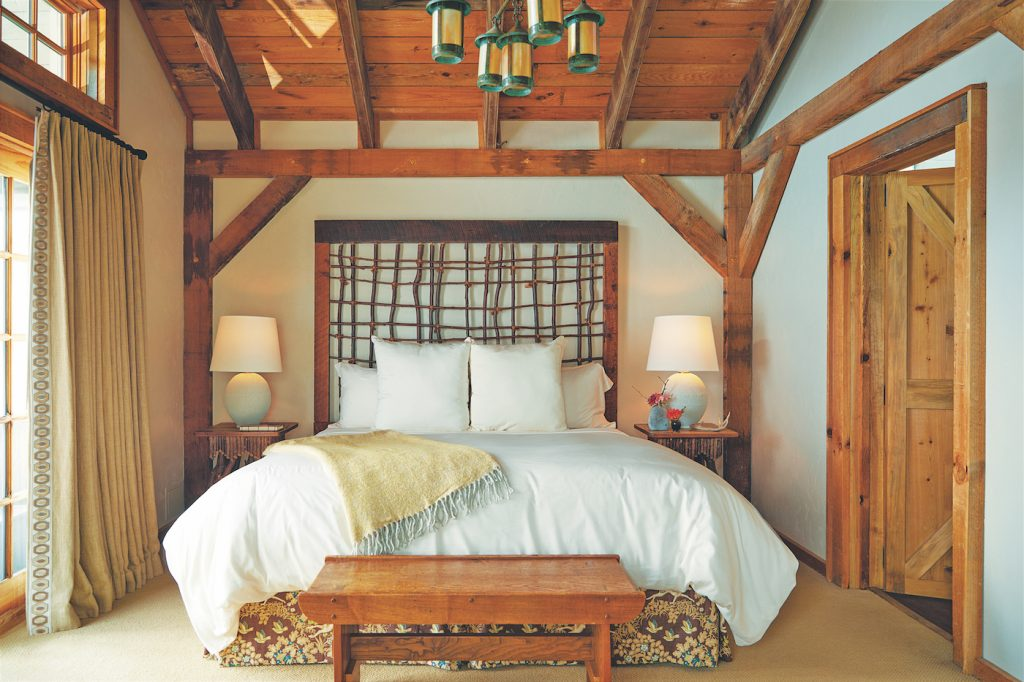 mountain resort guest bedroom